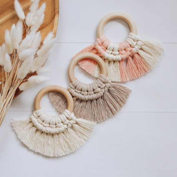 Gorgeous wooden baby teethers