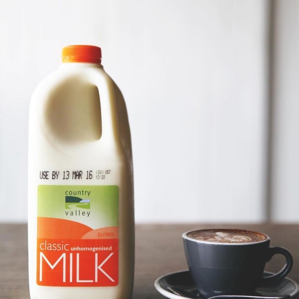 Country Valley Milk used in Coffee